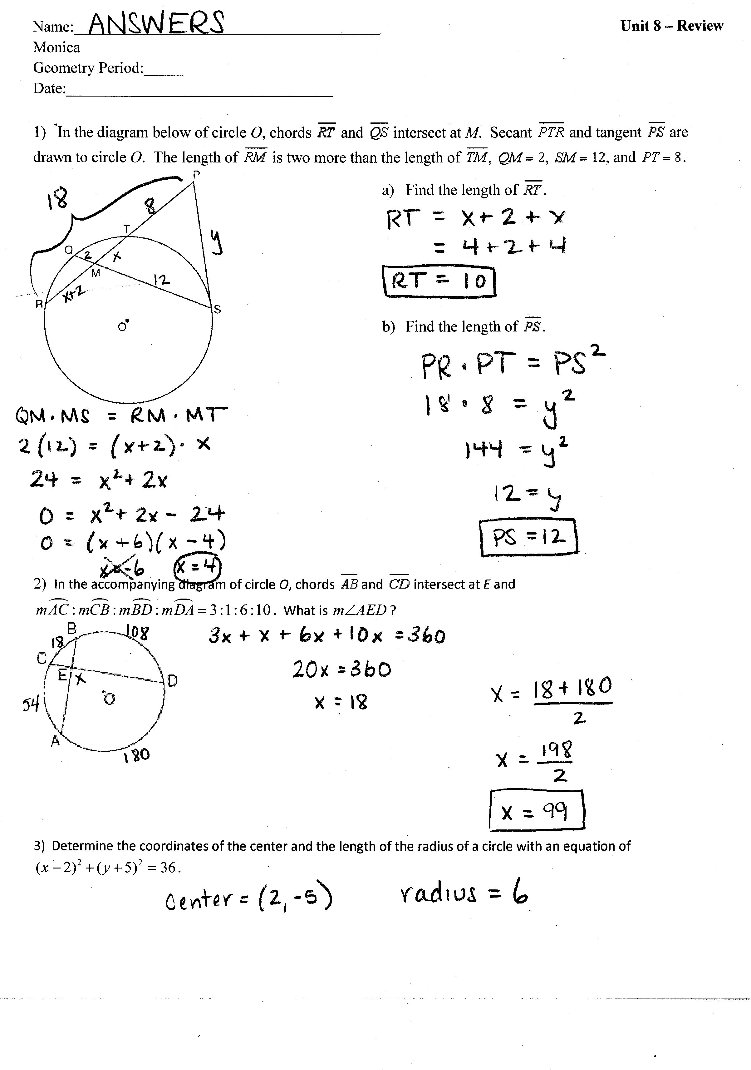 31 Unit 6 Worksheet 4 Using The Unit Circle Answer Key ...